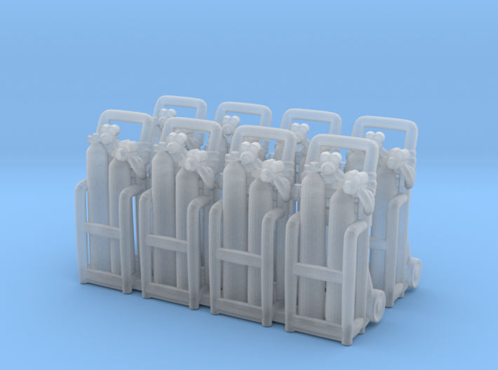 Oxy acetylene welder 01. HO Scale (1:87) 3d printed