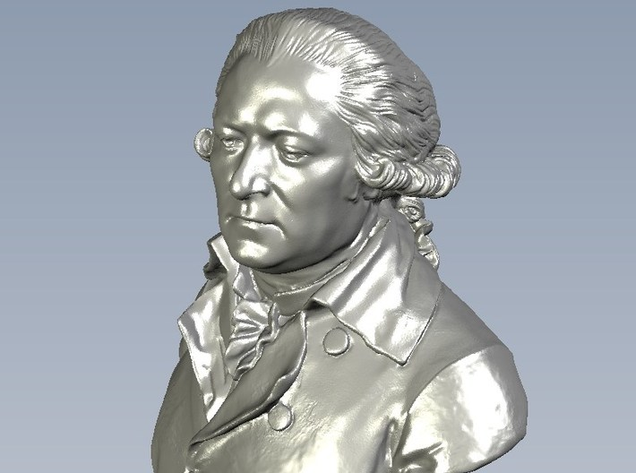 1/9 scale British naval admiral bust 3d printed
