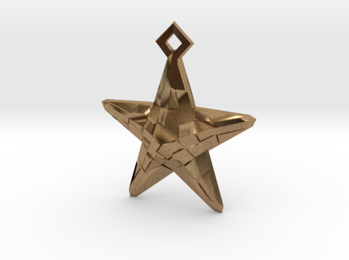 Stylised Sea Star Earring 3d printed