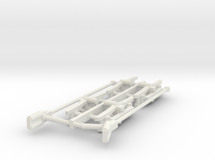 #160-1092 Liberty Bell Limited truck frames + pole 3d printed