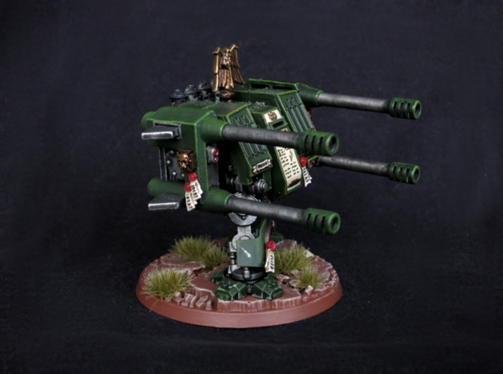 Autocannon Right and Left 3d printed Picture is of an older version, the sight between the barrels is a bit different in the current model