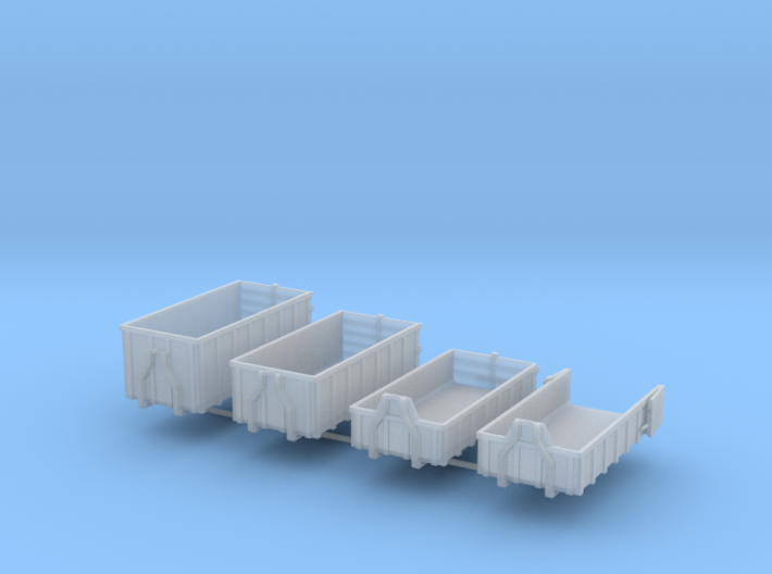 N Lot 4 Containers 3d printed