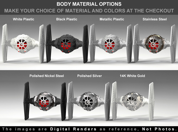 Tie Fighter Ring Box- Proposal/Engagement Ring Box 3d printed Choose the material at the checkout.