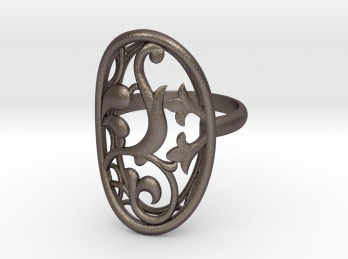 Engagement / Wedding Flower ring RWS000100001 3d printed