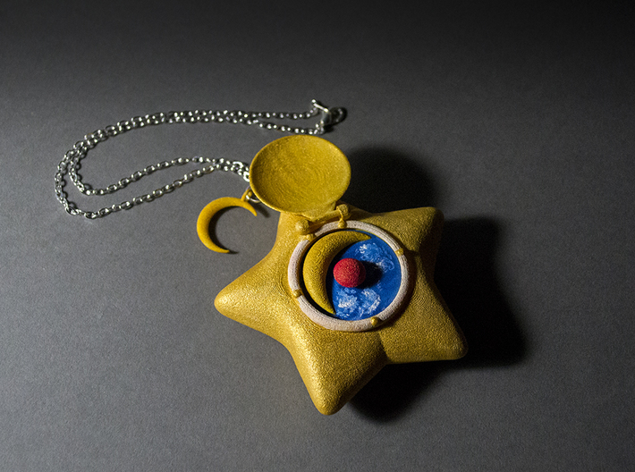 Star Locket 3d printed