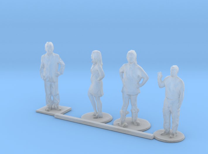 HO Scale Standing Kids 5 3d printed This is a render not a picture