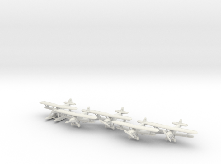 Hawker Hart planes set 2 (5 airplanes) 1/285 6mm 3d printed