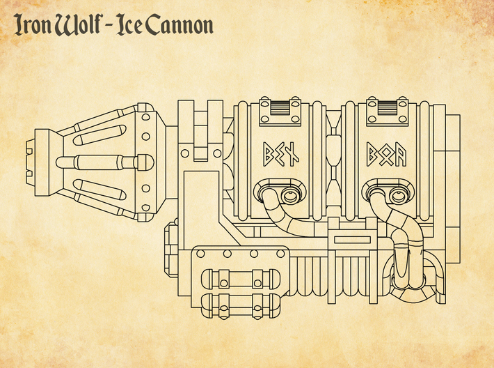 Iron Wolf - Ice Cannon 3d printed