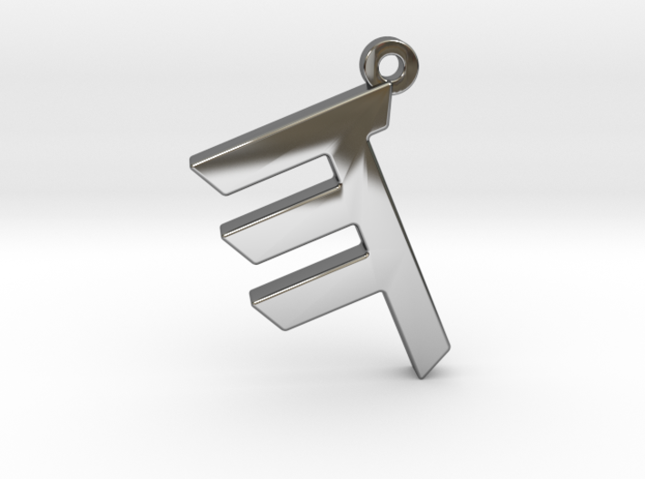 Letter HEH - Paleo Hebrew - With Chain Loop 3d printed