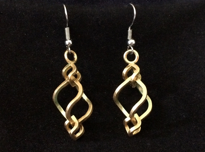 Swirled Cube Dangle II 3d printed