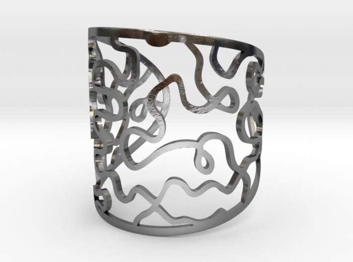 Vesta bangle - open cuff 3d printed