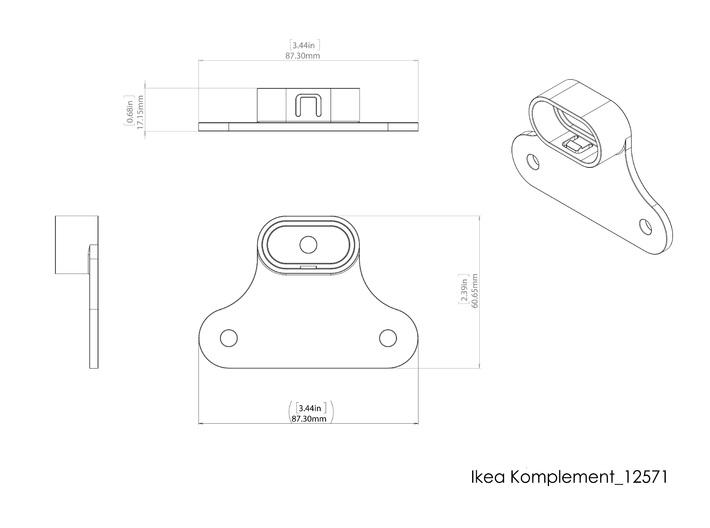 Ikea KOMPLEMENT 12571  3d printed