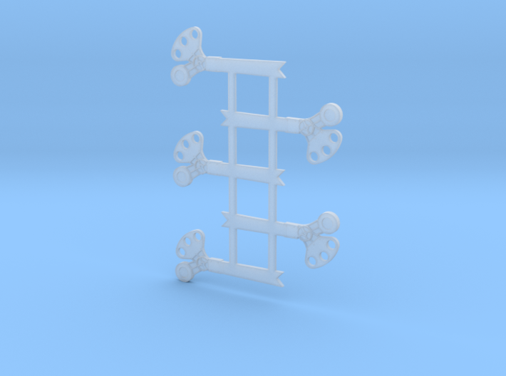 "HO Scale 3Pos. TO Semaphore Fishtail 42"" 3d printed"