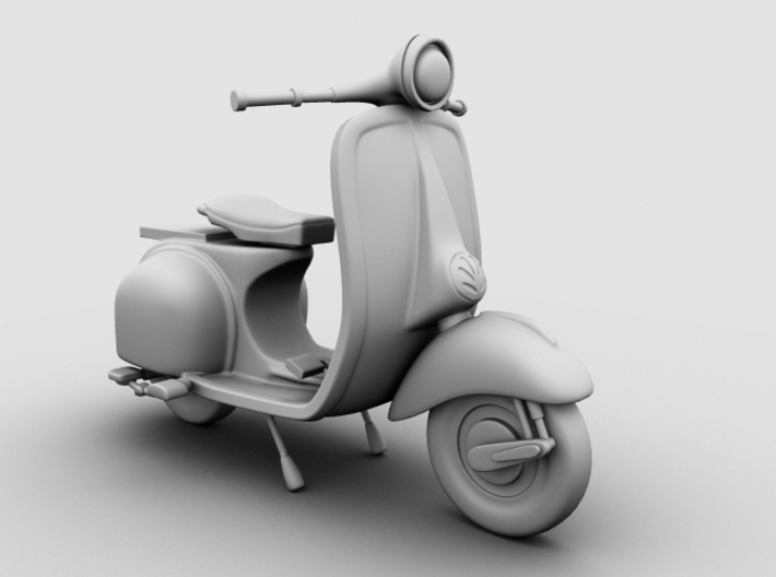 Scooter 3d printed Occlusion Render, Front