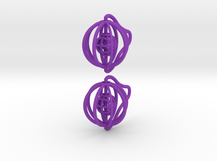 Cages - Pair of Earrings 3d printed