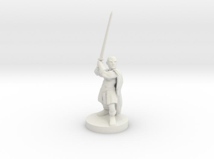 Halfling Barbarian 3d printed