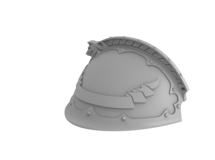 Iron Wolf - Left Shoulder Pad 3d printed