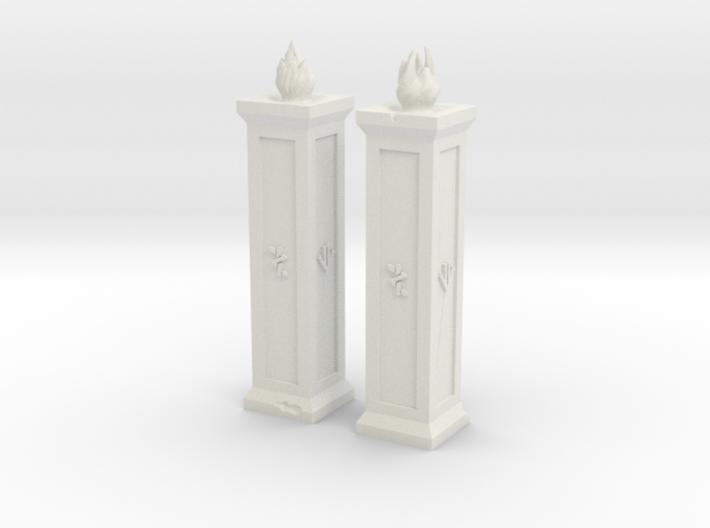 Dwarf Torches XL 3d printed