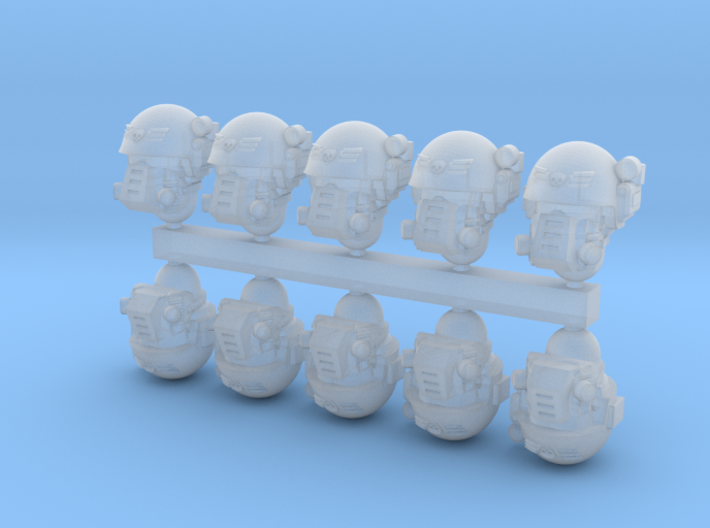 28mm SciFi soldier heads 3d printed