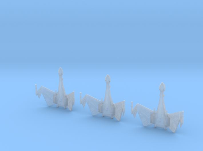 1/7000 QuD Frigate - Attack mode - 3 ships pack 3d printed