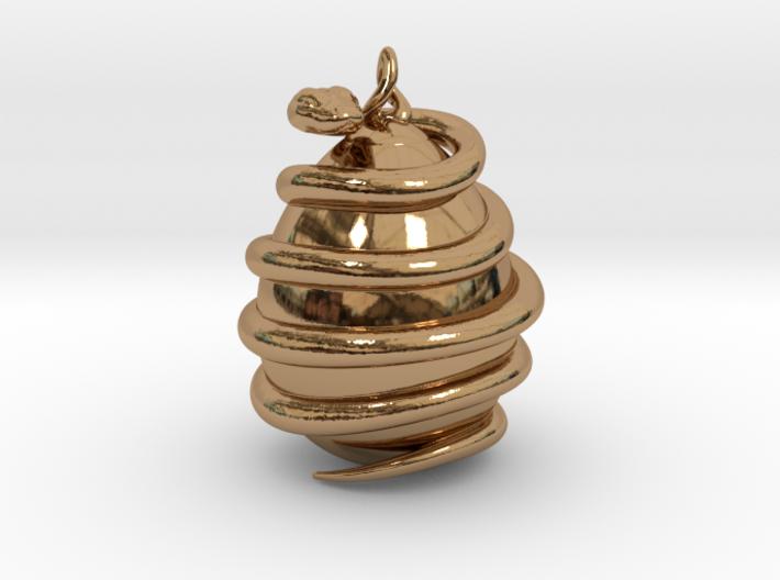 Orphic egg Pendant 4.5cm (Raw + Precious Metals) 3d printed