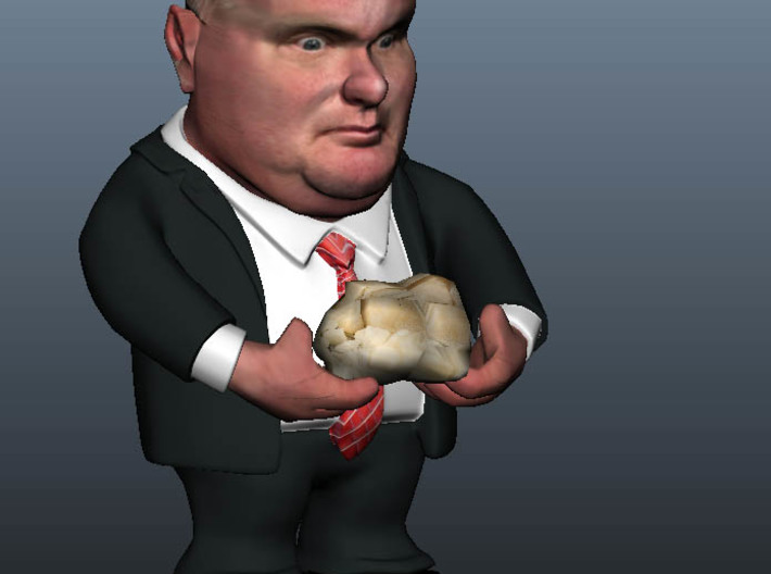 Medium - Rob Ford The Mayor of Toronto, Canada 3d printed