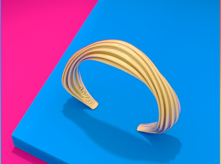 Wolly | Bracelet for Her&Him 3d printed Wolly | Bracelet matte gold finishing