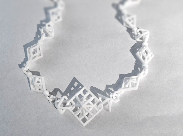 Necklace_octahedrons 3d printed