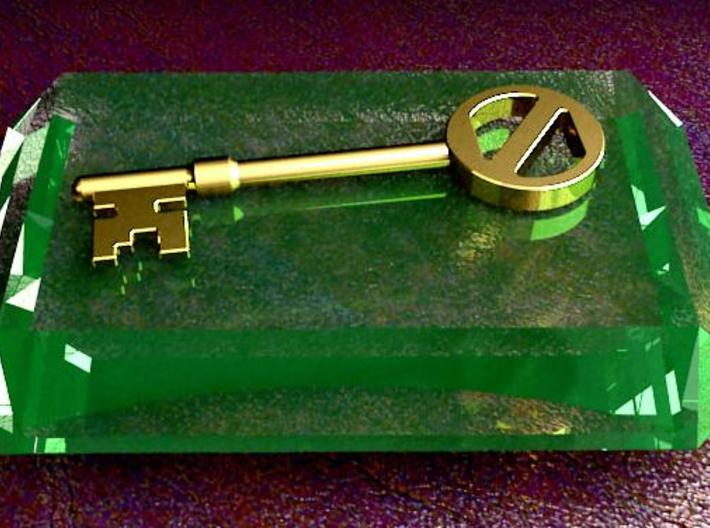 Oz key 3d printed Key on emerald base (emerald not included)