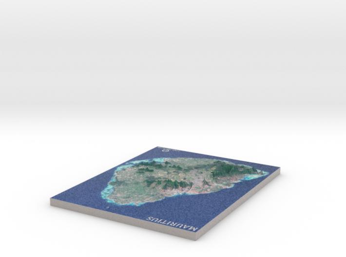 Mauritius Map 3d printed