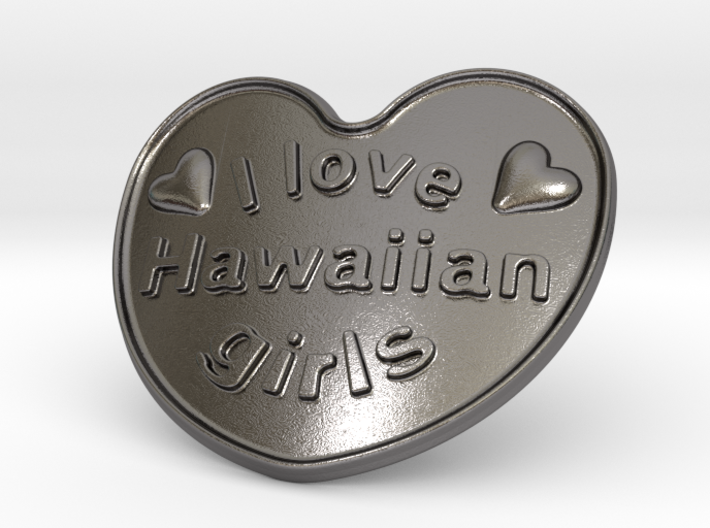 I Love Hawaiian Girls 3d printed