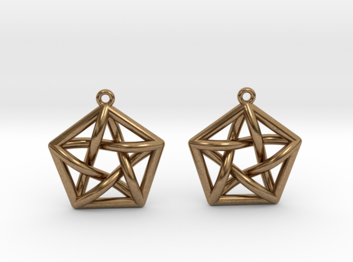 Complete Graph Earrings (K_5) 3d printed