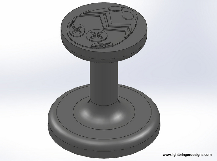 Easter Egg Wax Seal 3d printed This is the seal, the metal that Shapeways will send you.