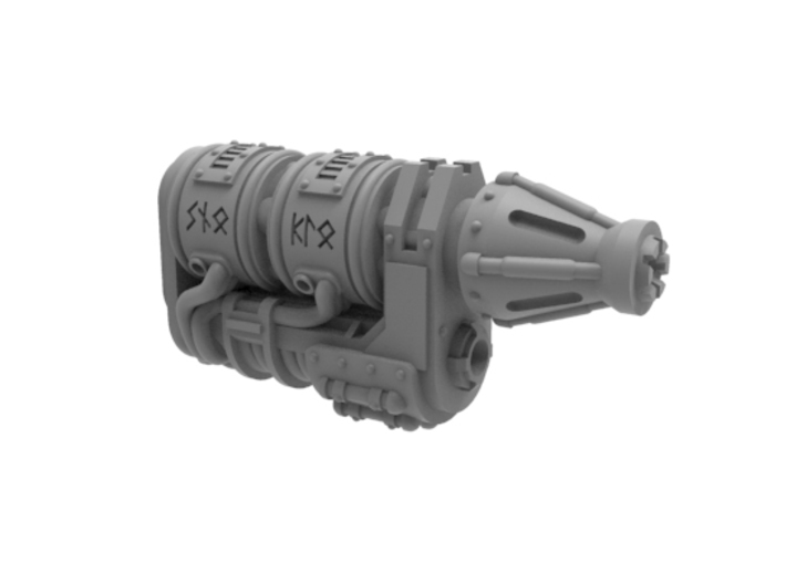 """Iron Wolf - Ice Cannon 3d printed Simply replace the """"Microwave Cannon"""" with this component"""