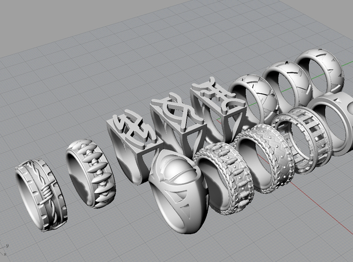 Cattle Brand Ring 3 - Size 9 1/2 (19.35 mm) 3d printed All rings in the Western Collection