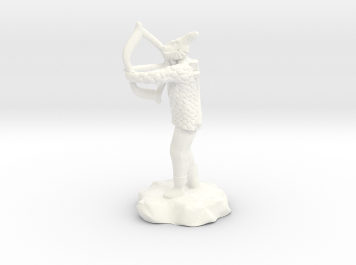 Dragonborn Fighter in Scale With Bow drawn 3d printed