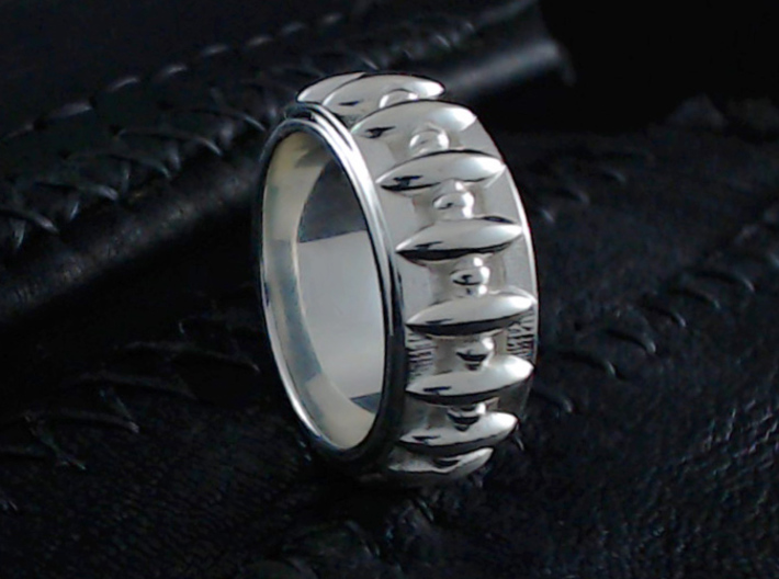 Eagle's Claw Ring - Size 9 1/2 (19.35 mm) 3d printed Shown in Polished Silver