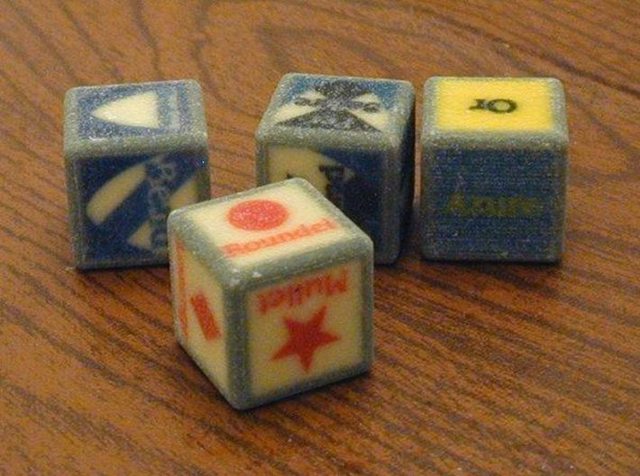 Complete Set of Blazonry Dice 3d printed A slightly older version; new one should be clearer.