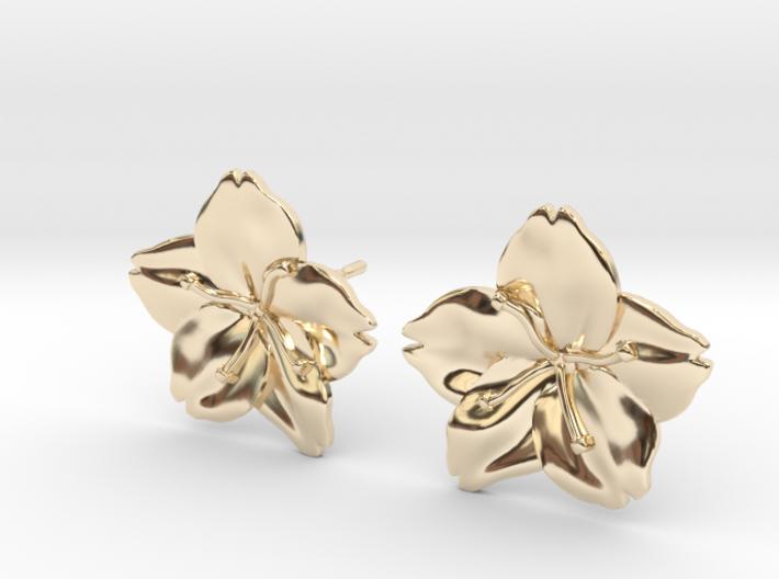 Sakura Stud Earrings 3d printed