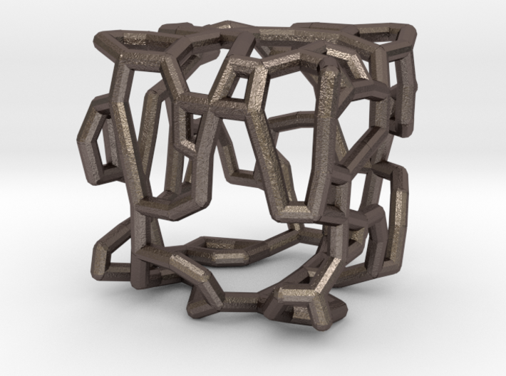 Stylized cube with an organic design 3d printed