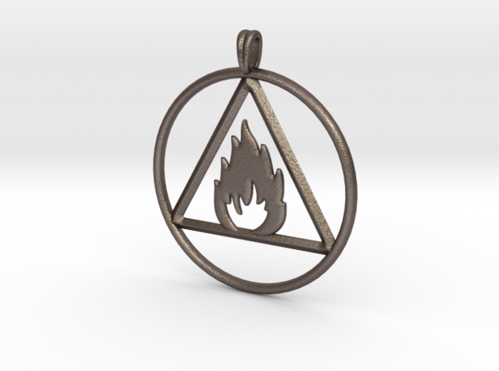 Ignis Alchemy Symbol Fire Element Jewelry Pendant Nvg293dmq By