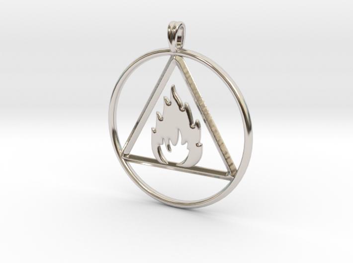 Ignis Alchemy symbol Fire Element Jewelry Pendant 3d printed