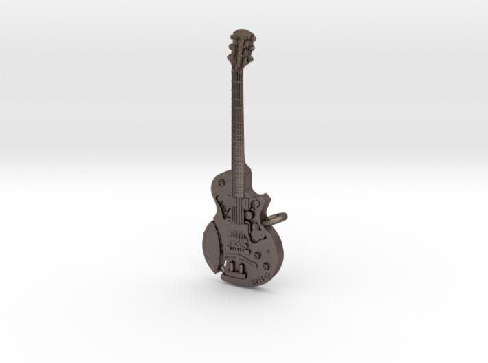 Steampunk Guitar pendant 3d printed