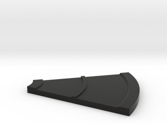 Road Curve 45 N Scale 3d printed
