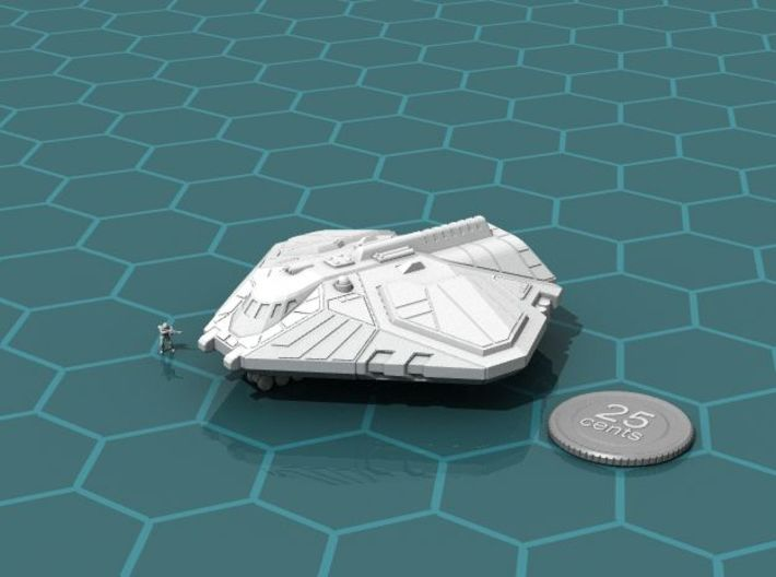 Cargo Shuttle 3d printed Render of the model, with a virtual quarter for scale.