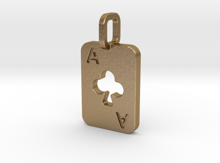 Ace of Clubs Card 3d printed