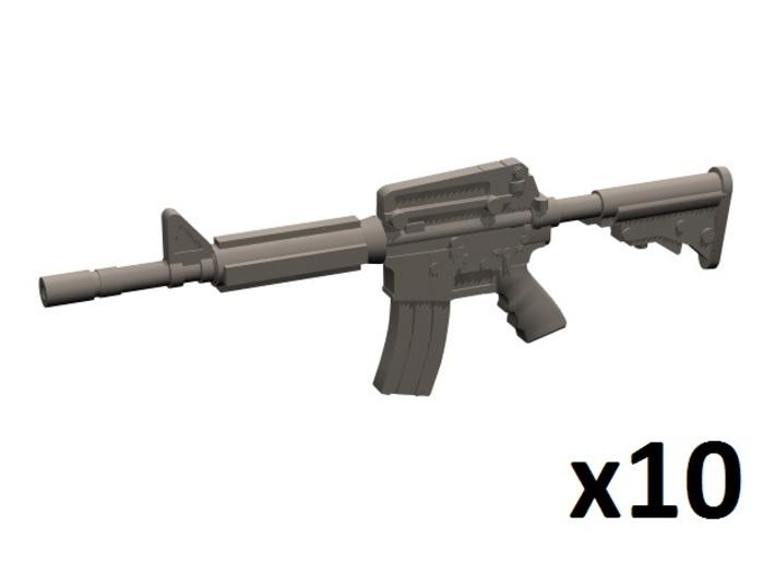 1/24 scale M4A1 assault rifles 3d printed