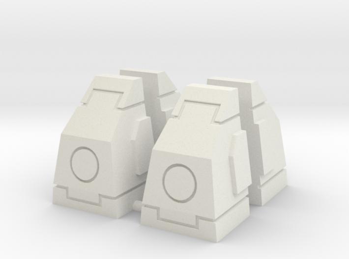 SciFi Milestones or Pillars Slanted - Large 3d printed
