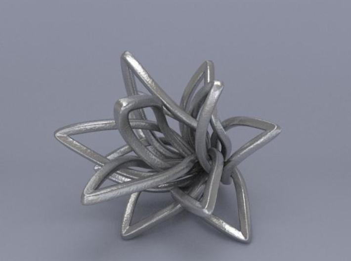 Spiral Flower 3d printed Render 5