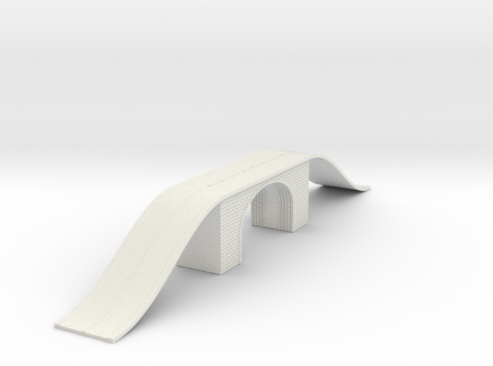 Arch Bridge Double With Road N Scale 3d printed